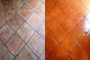IMAGEN DE COMO LIMPIAR PISOS DE BARRO COCIDO / how to clean terracotta floors